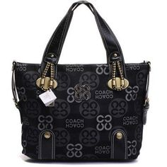 Coach Madison With Golden Decoration Business Bag Black bags