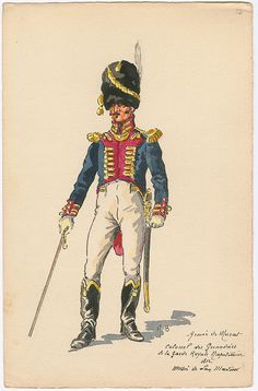Boisselier H. - Colonel of the Grenadiers of the Royal Guard of Naples. Kingdom Of Naples, Kingdom Of Italy, Military Art, Military History, Colonel, Italian Army, Royal Guard, French Empire, Napoleonic Wars