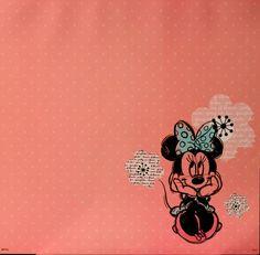 SandyLion Disney Princess 12 X 12 Minnie Mouse Flat Scrapbook Paper is available at Scrapbookfare.
