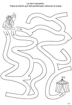 4-6 ans Fiche 9 : tracer le chemin Kindergarten Activities, Activities For Kids, Crafts For Kids, Mazes For Kids, Preschool Colors, Phonics Reading, Paper Games, Alphabet Worksheets, Kids Zone