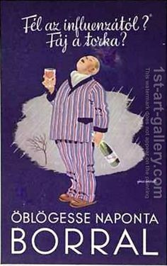Exact translation: Are you afraid of influenza? Does your throat hurt? Gargle daily with WINE. Retro Advertising, Vintage Advertisements, Vintage Ads, Vintage Posters, Modern Posters, Retro Posters, Restaurant Pictures, Spirited Art, Retro Toys