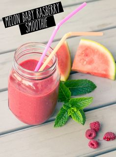 Power #Smoothie Woche 1: Melon Baby Rasberry Smoothie | healthy soulfood