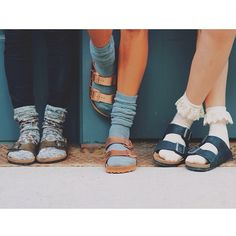Transition your Birkenstocks into fall and winter with adorable knit, crochet, ruffle and striped socks