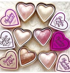 Goddess of Love highlighters and blushes