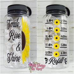 Excited to share this item from my shop: Sunflower Water Bottle Tracker Water Bottle With Times, Best Water Bottle, Water Bottle Design, Bottle Bottle, Water Bottle Crafts, Cute Water Bottles, Water Bottle Tracker, Sisters Coffee, Mugs