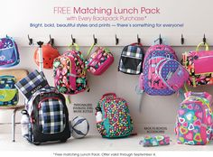Kids' Backpacks for School, Lunch packs, Rolling Backpacks - Garnet Hill