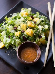 Mango Sesame Salad with Carrot Ginger DressingI was feeling a little tropical when I created this light and fresh Mango Sesame Salad with Carrot Ginger Dressing.    http://intentionalhospitality.com/mango-sesame-salad-with-carrot-ginger-dressing/