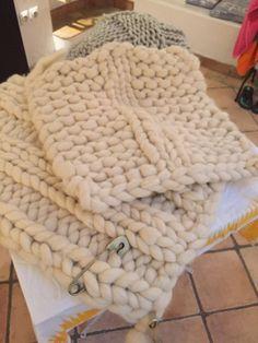 Plaid en laine mèche de moutons Néo-Zélandais