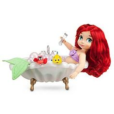 Disney Animators' Collection Ariel Doll Deluxe Gift Set - 16'' | Disney StoreDisney Animators' Collection Ariel Doll Deluxe Gift Set - 16'' - Our toddler Ariel doll, inspired by Disney's animated classic, <i>The Little Mermaid</i>, joins a bubbly seashell tub, terrycloth bath costume, satin dress, Sebastian, and Flounder for a delightful gift set from under the sea!