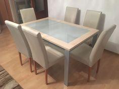 Esstisch mit 6 Stühlen sehr gut erhaltenTischLänge : 130cmBreite: 90cmHöhe: 74 cm