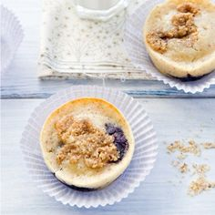 Blueberry Hazelnut Muffins Recipe via @jenlaceda