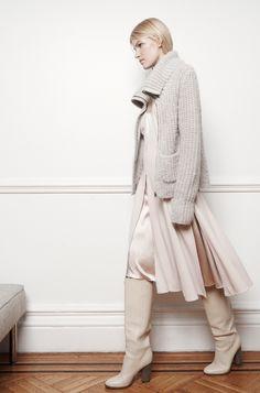 Club Monaco Look - Victoria Dress, Balia Sweater, Callie Boot
