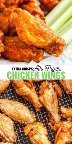 Air Fryer Chicken Wings Air Fryer Chicken Wings are so crispy and delicious without using any extra oil! Cooking Chicken Wings in an Air Fryer instead of deep frying them makes them healthier and clean up easier. They are ready in only 30 Air Fryer Recipes Breakfast, Air Fryer Dinner Recipes, Air Fryer Oven Recipes, Air Fryer Recipes Wings, Recipes Dinner, Air Fryer Recipes Potatoes, Air Fryer Recipes Appetizers, Air Fryer Baked Potato, Fall Appetizers