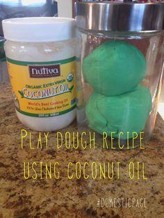 play dough recipe with Coconut oil  #domesticpage #coconutoil