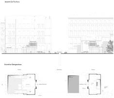 Longitudinal Section, Otto Wagner, Technical University, 3d Visualization, Detailed Drawings, Architecture Plan, Portfolio, Pavilion, Floor Plans