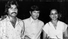 WITH CRICKET LEGEND JAVED MIANDAD AND REENA ROY
