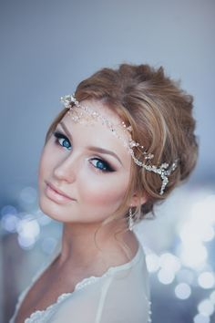 Crystal Decorated Wedding Bridal Hair Vine Bridal Halo Bridal