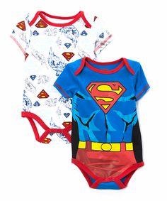 Blue Superman Bodysuit Set - Infant