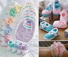 Baby Crochet Booties, Bibs, Ruffle Diapers plus loads more free patterns