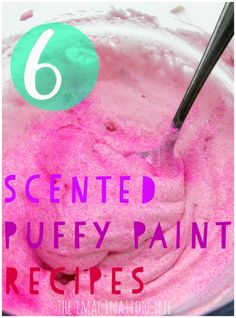 6 recipes for scented puffy paint!