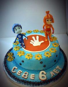 Торт Фиксики с фигурками из мастики   мульт   Pinterest