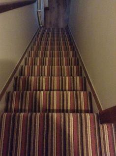 wool twist, stripe carpet by Kingsmead Carpets, installed in one of our customer's house. Beige Carpet, Wool Carpet, Striped Carpets, Quality Carpets, Luxury Flooring, Carpet Samples, Carpet Stairs, Bedroom Carpet, Carpet Runner