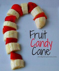 Bastones de fruta preciosos para esta navidad. Entre tanto atracón viene bien