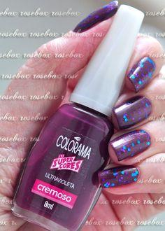esmalte Colorama ULTRAVIOLETA + glitter