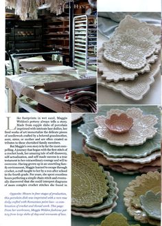 Lace Pottery Ornamental Bowls