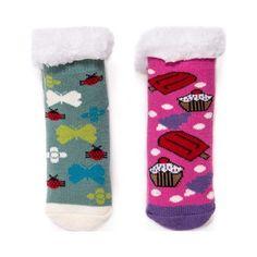 4880106b0d4 Children s MUK LUKS 2-Pack Cabin Sock - Rain Bubblegum Knit Socks