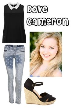 """Dove Cameron"" by americafashionboss15 ❤ liked on Polyvore featuring Topshop and Forever 21"
