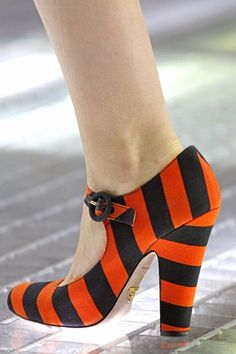 Prada, orange black stripes shoes - could these be considered Halloween appropriate, thus I have to have them?