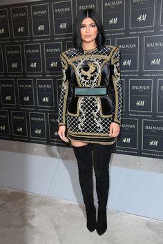 Kylie Jenner http://www.vogue.fr/mode/inspirations/diaporama/les-looks-des-clbrits-au-dfil-balmain-x-hm-new-york/23261#kylie-jenner