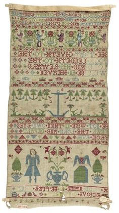 Mary Derow band sampler 1723, The Fitzwilliam Museum