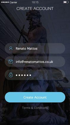 Login screen by Renato Mattos