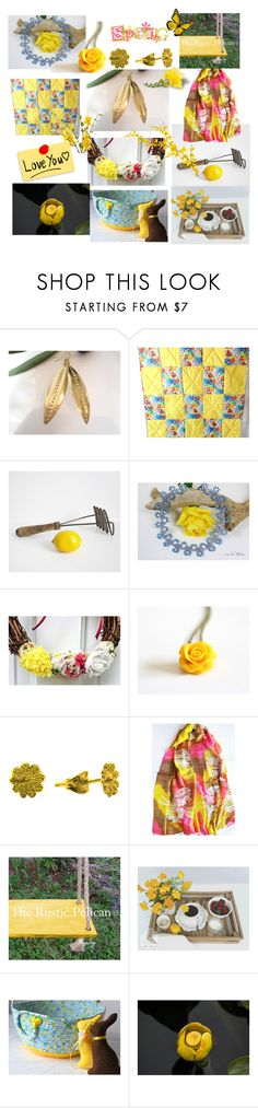 """""""Happy Spring"""" by anna-recycle ❤ liked on Polyvore featuring modern, rustic and vintage"""