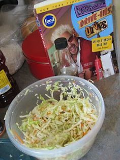 Do you love Diners Drive-ins and Dives?      Triple D Recipe : Ultimate coleslaw.