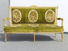 Spectacular ANTIQUE French Louis XVI Gold Gilt SETTEE French Provincial ROCOCO  #FrenchCountryProvincialLouisXVI