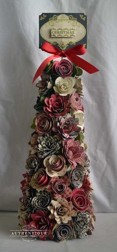 a paper flower christmas tree!