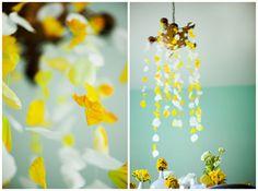 Yellow-chandelier