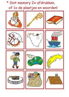 * Sint memory: plaatjes en woorden! 1-4