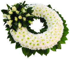Chrysanthemum Based Wreath FL024 | Funeral Directors London | Lodge Brothers