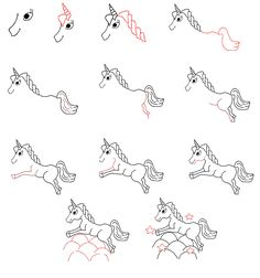 Draw Unicorn How To Draw Unicorn Fairy Drawings Doodles And
