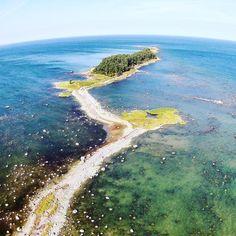 Drone photo of Laheema nationalpark, Estonia