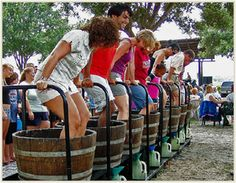 24th Annual Harvest Festival - Lakeridge Winery, Clermont, FL. Stomp on grapes.