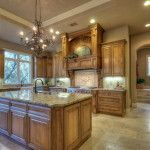 Classic Wood Furnishing in Traditional Kitchen Ideas