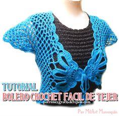 como tejer bolero a crochet fácil