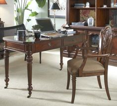 Antebellum Writing Desk in Hermitage Wood | Fine Furniture Design | Home Gallery Stores