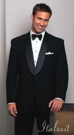 fdb76c4e94a48 Shawl Collar Super 150's 1 Button Mens Black Tuxedo Extra Fine Wool premier  quality italian fabric Design. ŚlubGarnitury MęskieStylModa ...