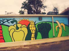 Delicious veggie #mural painted by local artist Darlene Newman at South Memphis Farmers Market.